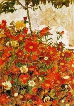 Egon Schiele - Field Of Flowers