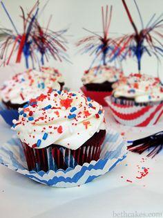 Firecracker (Poprocks) Cupcakes from bethcakes.com!