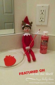 We love this Rudolph Elf, grab some craft paint and you are all set. We want you! Send us your Funny, Easy, and Creative Elf on the Shelf Ideas. Hundreds of ideas found on Frugal Coupon Living.