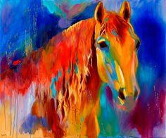 Technicolor Hank oil painting