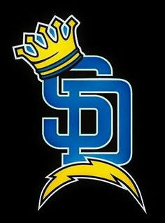 SD Crown Chargers Nfl, San Diego Chargers, Sd Logo, San Diego Tattoo, Happy New Year Banner, Football Crafts, Football Conference, Los Angeles Area, San Diego Padres
