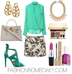 Spring 2013 Style Inspiration: What to Wear to a Day Party - The Fashion Bomb Blog : Celebrity Fashion, Fashion News, What To Wear, Runway Show Reviews