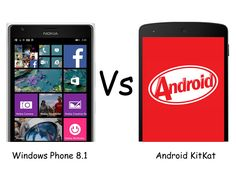 Windows Phone 8.1 vs Android 4.4 KitKat Update