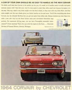 Chevy Corvair Ad