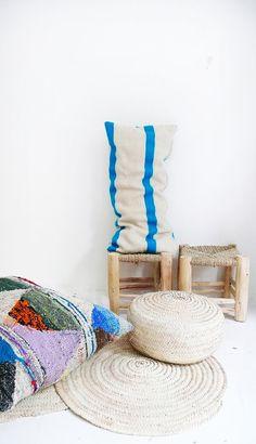 Moroccan Kilim pillow cover Bue por lacasadecoto en Etsy