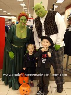 Coolest Shrek and Princess Fiona Costume 25: We are always on the look out for a great couples costume, and because we are of the fuller figure population - great costumes are few and far between.