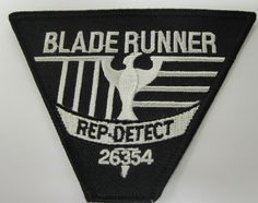 BLADE RUNNER Movie Rep Detect Embroidered Logo PATCH