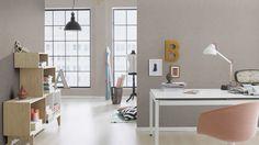 Rasch I Highlands - wallpaper/behang Office Desk, Corner Desk, Wallpaper, Table, Highlands, Furniture, Home Decor, Products, Houses