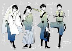 Yuzuru Hanyu, Tatsuki Machida, Takahiko Kozuka, Nobunari Oda