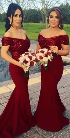 Off Shoulder Burgundy Long Mermaid Bridesmaid Dresses Online, WG248 The bridesmaid dresses are fully lined, chest pad in the bust, lace up back or zipper back are all available, total 126 colors are available. This dress could be custom made, there are no extra cost to do custom size and color.Description1, Material: sequin, soft satin, pongee. 2, Color: picture color or other colors, there are 126 colors are available, please contact us for more colors, please contact with us. 3, Size… Dark Red Bridesmaid Dresses, Red Bridesmaids, Mermaid Bridesmaid Dresses, Cheap Homecoming Dresses, Bridesmaid Dresses Online, Wedding Dresses, Bridesmade Dresses, Wedding Outfits, Fall Dresses