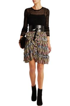 Shop on-sale Isabel Marant Poyle printed silk-georgette mini skirt. Browse other discount designer Skirts & more on The Most Fashionable Fashion Outlet, THE OUTNET.COM