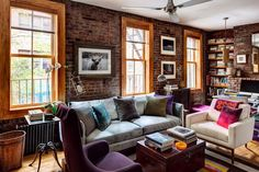 34 brick wall living room interior designs (24)