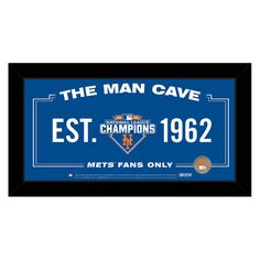 Framed New York Mets 2015 National League Champions 10x20 Man Cave Sign Collage