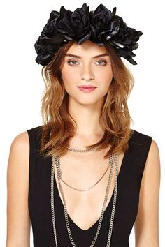 Night And Day Flower Crown - Black $35
