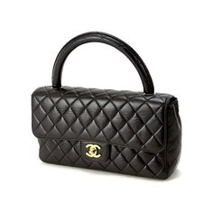 Pre-owned Chanel Shoulder Bag ($1,979) ❤ liked on Polyvore featuring bags, handbags, shoulder bags, apparel & accessories, wallets & cases, leather handbags, genuine leather shoulder bag, chanel purses, chanel handbags and leather purse