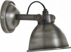 Applique Turfort Silver - Lampe Murale Bistrot au Style Industriel- La boutique