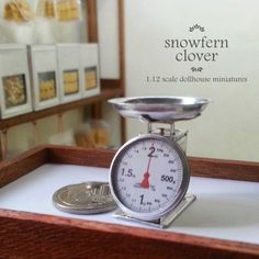 Snowfern Clover - miniature foods 1:12, 1:24 & 1:48 dollhouse scale: A 1:12 scale miniature scale