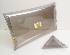 Deluxe Transparent Clear Clutch Bag Deluxe by 9September on Etsy, $24.90