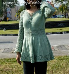 Ravelry: Lace Sleeves Sweater pattern by Lily Go