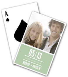 Personalized photo playing cards for just $5.00! Creative gift idea.