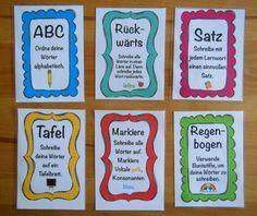 Rechtschreib-Kartei: Aufgaben für Lernwörter – Teacher's Life