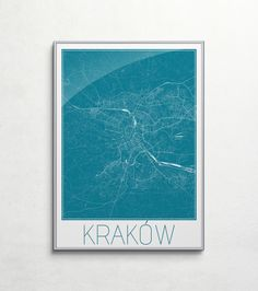 Plakat - mapa - Kraków  Gdzie kupić? www.eplakaty.pl