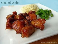 sladkokyselé kuře No Salt Recipes, Top Recipes, Chicken Recipes, Czech Recipes, Ethnic Recipes, Easy Cooking, Cooking Recipes, China Food, Good Food
