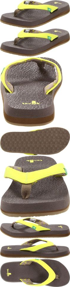 Sanuk Women's Yoga Serenity Flip-Flop - Footbed Made From Real Yoga Mat! Happy U Outsole Synthetic Leather with Printed Jersey Liner Vegan and Vegetarian - Sandals - Apparel