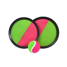 Toy CubbyVelcro ball Paddle Catch and Toss Game Set 7 Handheld Stick Disc  1 Set >>> More info could be found at the image url.