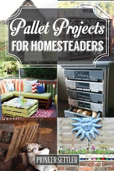 Pallet Projects For Homesteaders   Creative Home Decor Ideas On A Budget
