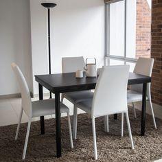 Mesa alta asia comedor moderna desayunador madera for Comedores con sillas altas