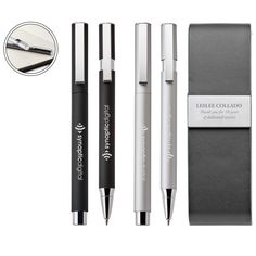 Set includes Willow ballpoint pen and Willow rollerball pen. Promotional Pens, Pens And Pencils, Custom Pens, Thing 1, Pen Case, Rollerball Pen, Pen Sets, Writing Instruments, Ballpoint Pen
