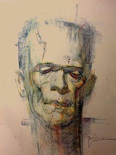 Frankenstein's Monster by Bill Sienkiewicz