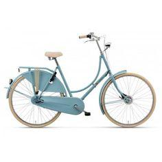 Der einfachste Weg, sich wie in Amsterdam zu bewegen, ist, sich ein Old Dutch zuzulegen. Mit dem stilechten Batavus Hollandrad macht die Fahrt besonders viel Freude. Es fährt sich leicht, ist robust und wartungsarm. Ein klasse Rad, schön akzentuiert durch cremefarbene Reifen, die gut zum glänzenden Lack passen.Technische Details: Rahmen: Stahl, gemuffte RohreRahmenhöhe: Damen 50 oder 56 cmFarbe: Ancient BlueSchaltung: Shimano Nexus Dreigangschaltung mit Freilauf und DrehgriffBremssystem…