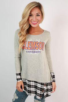 Clemson University Plaid Tunic #clemson .... I want this!