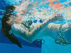 Wem Menschen malen allein noch nicht schwer genug ist, der malt sie unter Wasser. Dieses Kunststück gelingt Samantha French mit Leichti...