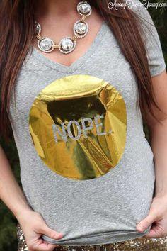 Among the Young: NOPE DIY vinyl tee shirt