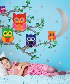Nightly News Owl Decal Set from WallCandy Arts