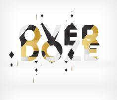 """Typography in progress """" overdoze """""""