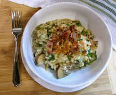 A Squared: What's For Dinner Wednesday: Spinach, Mushroom & Bacon Risotto