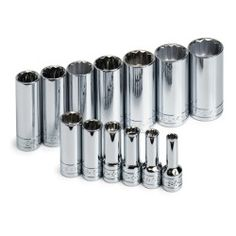 SOCKET SET 3/8IN. DRIVE 13PC SAE DEEP 12 POINT