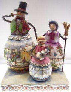 Jim Shore Snowman Family Warm Hearts 4005442 2006 Free USA Shipping | eBay