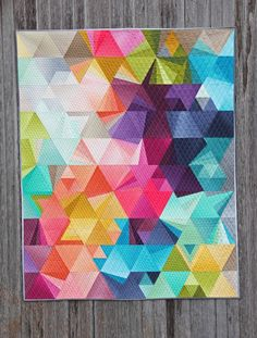Tessellation quilt by Nydia Kehnle using V & Co's  new Ombre line