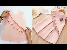 Simple kids dress (How to sew) - Simple kids dress (How to sew), - Baby Girl Frocks, Frocks For Girls, Little Girl Dresses, Girls Frock Design, Baby Dress Design, Baby Frocks Designs, Kids Frocks Design, Toddler Dress Patterns, Dress Sewing Patterns