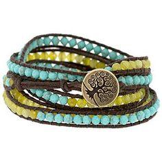 Weekly Bead Challenge - Week 9 - Make A Wrapped Cord Bracelet