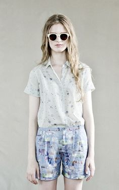 Deacon's Blouse Ethically made in New York City from 45% Cotton & 55% Silk