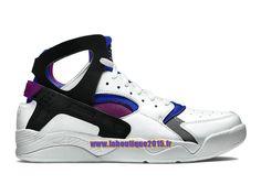 Officiel Nike Air Flight Huarache Premium - Chaussure de Nike Basket-ball Pour Homme Blanc/Bleu de Lyon/Baie vif/Noir 686203-100