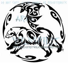 bat tattoo ideas | Bear And Bat Circular Tattoo by *WildSpiritWolf on deviantART