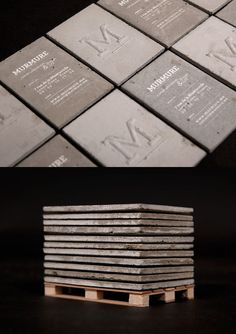 Concrete business cards. Murmure