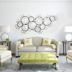 e-Home®+metal+vægudsmykning+væg+udsmykning,+cirkulær+sne+væg+udsmykning+–+DKK+kr.+1.004